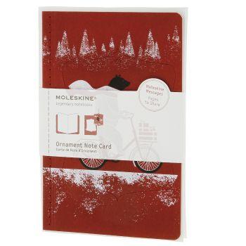 Moleskine Ornament Card Large - Cycling Bear