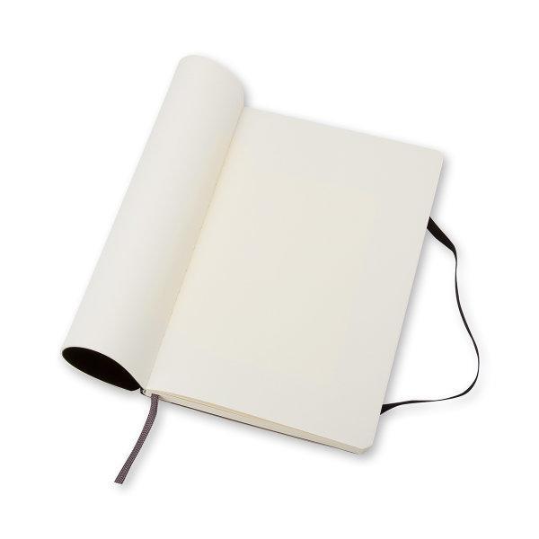 Moleskine สมุดบันทึก ปกอ่อน สีดำ ขนาดใหญ่ 13x21 ซม MOLESKINE NOTEBOOK LARGE SOFT COVER BLACK 13x21 CM