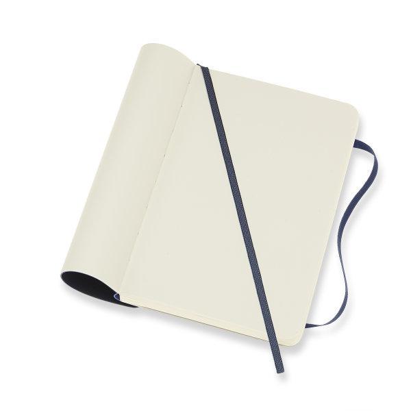 Moleskine สมุดบันทึก ปกอ่อน สีน้ำเงิน ขนาดเล็ก 9x14 ซม MOLESKINE NOTEBOOK POCKET SOFT COVER SAP.BLUE 9X14 CM