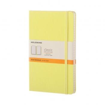QP060M12 NOTEBOOK LARGE RULED CITRON YELLOW HARD COVER