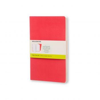 Moleskine Volant Journal Plain Large Geranium Red/Scarlet Red