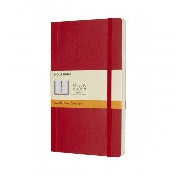 MOLESKINE NOTEBOOK LARGE RULED SCARLET RED SOFT COVER QP616F2