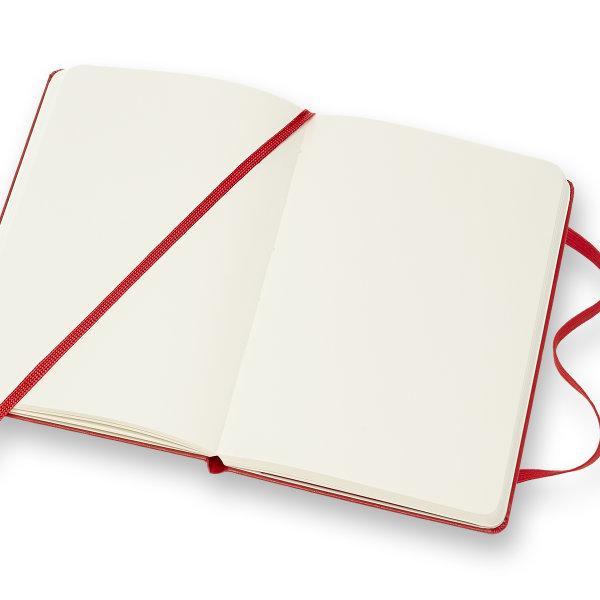 Moleskine สมุดบันทึก ปกแข็ง สีแดง ขนาดเล็ก 9x14 ซม MOLESKINE NOTEBOOK POCKET HARD COVER S.RED 9X14 CM