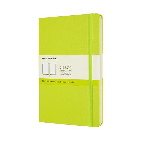 CLASSIC NOTEBOOK LARGE PLAIN LEMON GREEN HARD COVER