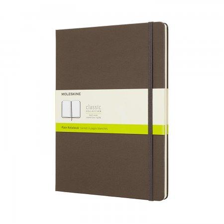 MOLESKINE NOTEBOOK XL PLAIN HARD COVER EARTH BROWN QP092P14