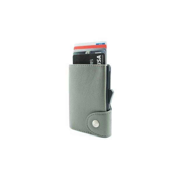 C-SECURE RFID Classic Leather Wallet Fog/ Black Card holder
