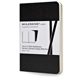 Moleskine Volant Notebooks Xs Plain Black Qp703Bk