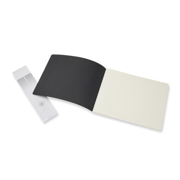 Moleskine สมุดสเก็ตซ์ภาพ ปกกระดาษ สีดำ MOLESKINE CAHIER SKETCHBOOK BLACK