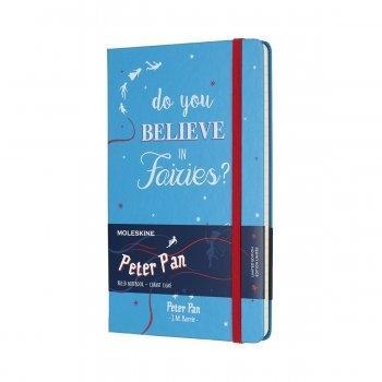 MOLESKINE LIMITED EDITION NOTEBOOK PETER PAN LARGE RULED FAIRIES CERULEAN BLUE