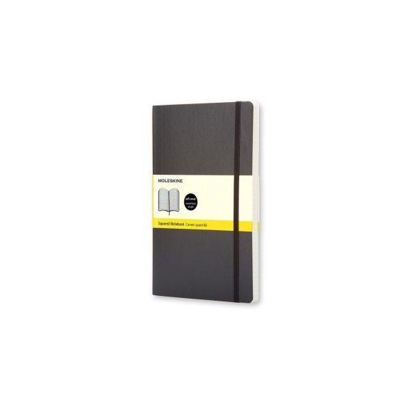 Moleskine Notebook Lg Squared Black Soft Cover Qp617
