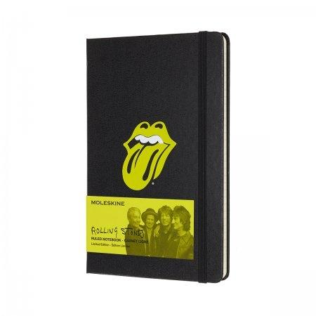 MOLESKINE LIMITED EDITION NOTEBOOK ROLLING STONES LARGE RULED BLACK