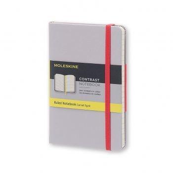 MOLESKINE Contrast Collection Pocket Ruled Hard Aster Grey