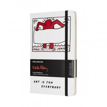 MOLESKINE LIMITED EDITION NOTEBOOK KEITH HARING LARGE PLAIN WHITE
