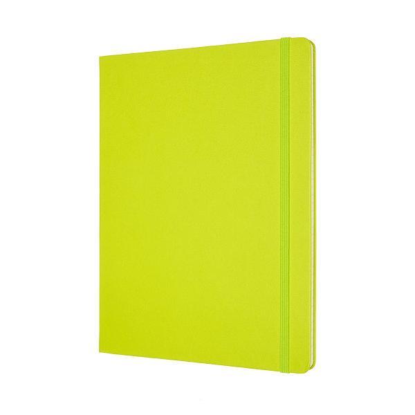 Moleskine สมุดบันทึก ปกแข็ง สีเขียวมะนาว ขนาดใหญ่พิเศษ 19x25 ซม MOLESKINE NOTEBOOK XL HARD COVER L.GREEN 19X25 CM