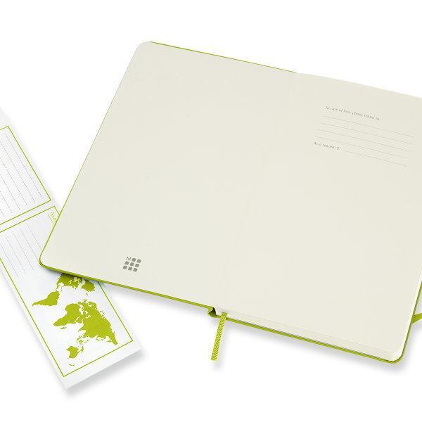 Moleskine สมุดบันทึก ปกแข็ง สีเขียวมะนาว ขนาดใหญ่ 13x21 ซม MOLESKINE NOTEBOOK LARGE HARD COVER L.GREEN 13X21 CM