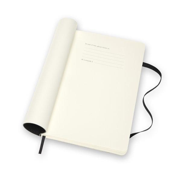 Moleskine สมุดบันทึกปกอ่อน หนังแท้ มีเส้น ขนาด 13x21 ซม MOLESKINE CLASSIC LEATHER NOTEBOOK LARGE RULED SOFT COVER 13X21 CM