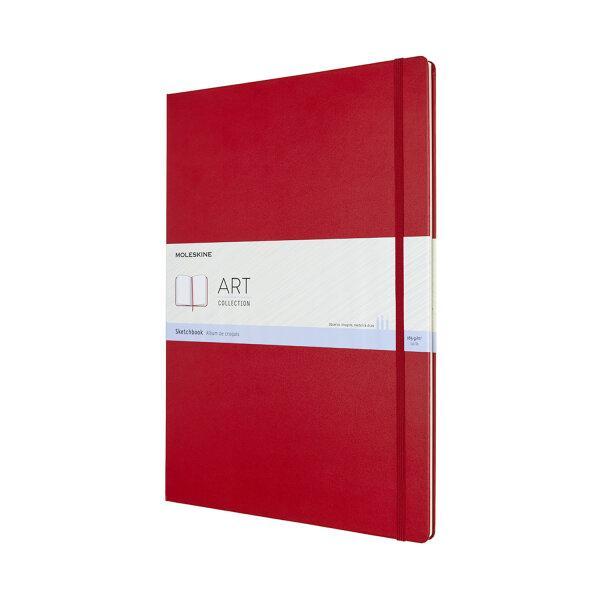 Moleskine สมุดสเก็ตซ์ภาพ ปกแข็ง สีแดง MOLESKINE SKETCHBOOK HARD COVER S.RED