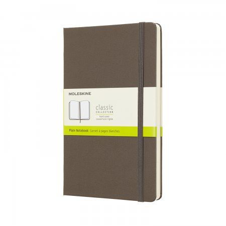 MOLESKINE NOTEBOOK LARGE PLAIN HARD COVER EARTH BROWN QP062P14