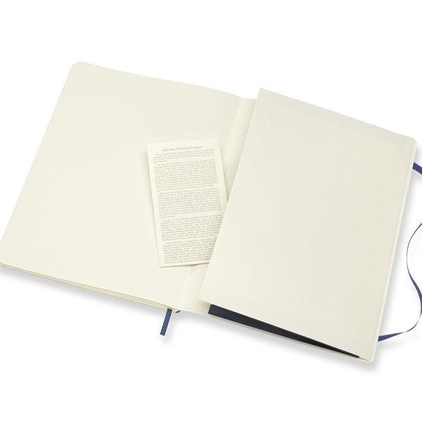 Moleskine สมุดบันทึก ปกอ่อน สีน้ำเงิน ขนาดใหญ่พิเศษ 19x25 ซม MOLESKINE NOTEBOOK XL SOFT COVER SAP.BLUE 19X25CM