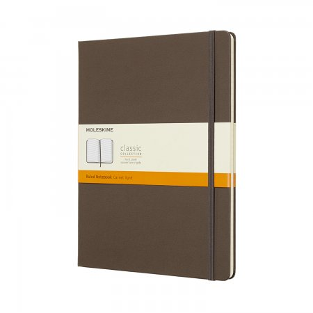 MOLESKINE NOTEBOOK XL RULED HARD COVER EARTH BROWN QP090P14
