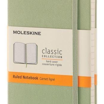 MOLESKINE NOTEBOOK POCKET RULED WILLOW GREEN HARD COVER MM710K12