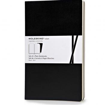 Moleskine Volant Notebooks Lg Plain Black Qp723Bk
