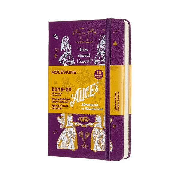 DAL18WN2Y20 MOLESKINE PLANNER ALICE WONDERLAND WEEKLY 18M WEEKLY POCKET PURPLE