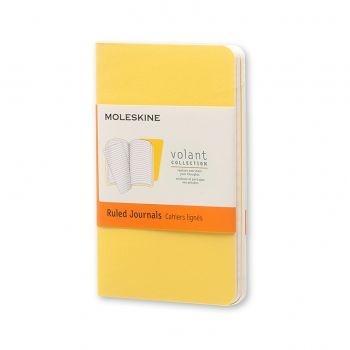 Moleskine Volant Journal Ruled Extra Small Sunflower Yellow/Brass Yellow