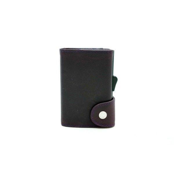 C-SECURE RFID Prestige Leather Wallet Carnidal/ Black Card holder