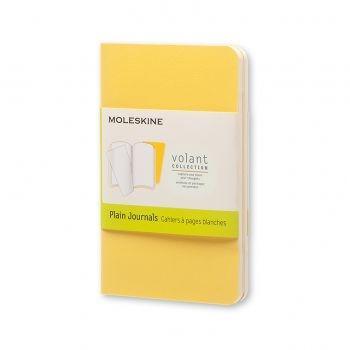 Moleskine Volant Journal Plain Extra Small Sunflower Yellow/Brass Yellow