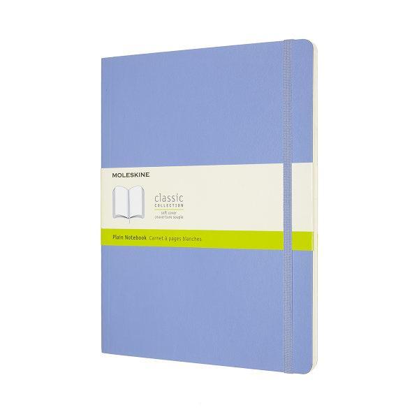 Moleskine สมุดบันทึก ปกอ่อน สีฟ้าไฮเดรนเยีย ขนาดใหญ่พิเศษ 19x25 ซม MOLESKINE NOTEBOOK XL SOFT COVER H.BLUE 19X25 CM