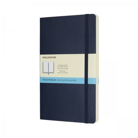 MOLESKINE NOTEBOOK LARGE DOT SOFT COVER SAPPHIRE BLUE QP619B20F