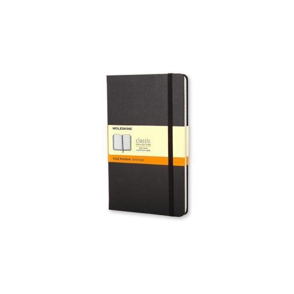 Moleskine Notebook Lg Ruled Black Hard Cover Qp060