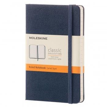 MOLESKINE NOTEBOOK POCKET RULED SAPPHIRE BLUE HARD COVER MM710B20