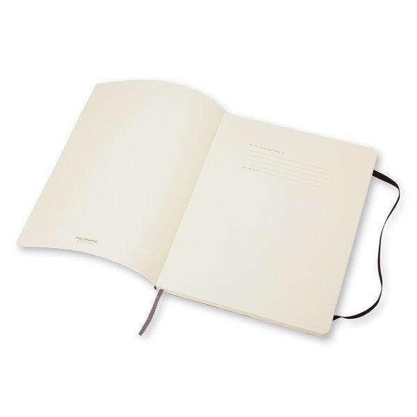 Moleskine สมุดบันทึก ปกอ่อน สีดำ ขนาดใหญ่พิเศษ 19x25 ซม MOLESKINE NOTEBOOK XL SOFT COVER BLACK 19X25CM