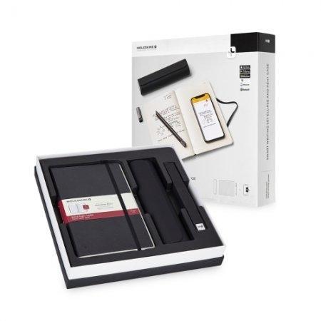 MOLESKINE ชุดปากกา Smart Writing Set Pen+ Ellipse พร้อมสมุด Tablet Paper และเคสปากกา Pen+ สีดำ