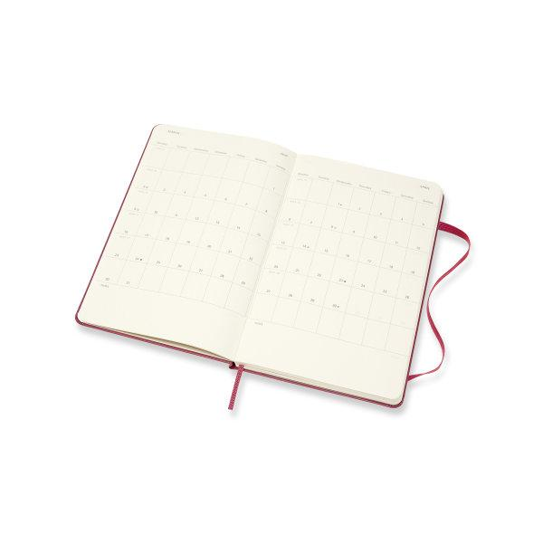 DHD1618WN3Y20 MOLESKINE PLANNER 18M WEEKLY NOTEBOOK LARGE SNAPPY PINK  HARD COVER