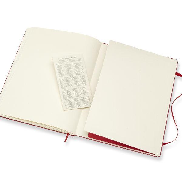 Moleskine สมุดบันทึก ปกแข็ง สีแดง ขนาดใหญ่พิเศษ 19x25 ซม MOLESKINE NOTEBOOK XL HARD COVER S.RED 19X25CM