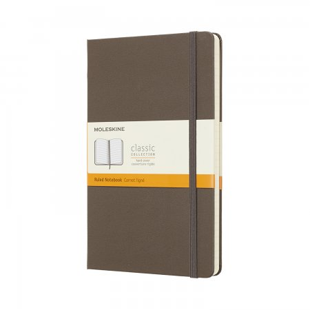 MOLESKINE NOTEBOOK LARGE RULED HARD COVER EARTH BROWN QP060P14