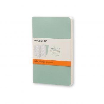 Moleskine Volant Journal Ruled Pocket Sage Green/Seaweed Green