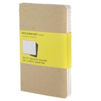 Moleskine Cahier Journals Pkt Squared Kraft Qp412