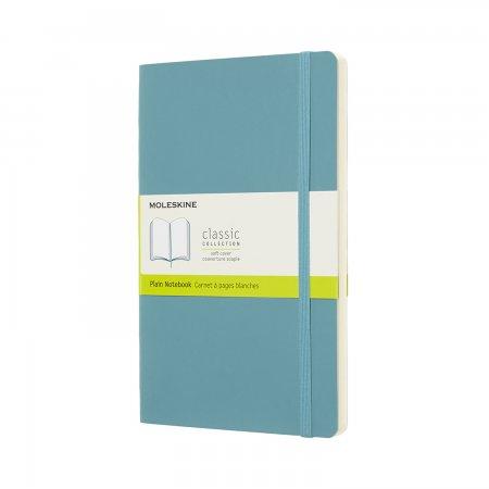 MOLESKINE NOTEBOOK LARGE PLAIN SOFT COVER REEF BLUE QP618B35