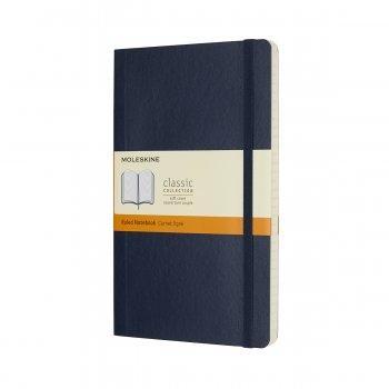 MOLESKINE NOTEBOOK LARGE RULED SAPPHIRE BLUE SOFT COVER QP616B20