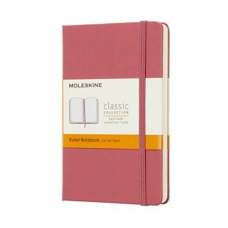 MOLESKINE NOTEBOOK POCKET RULED HARD COVER DAISY PINK MM710D11