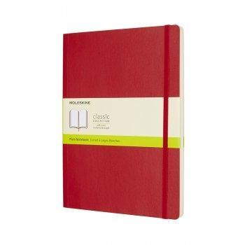 MOLESKINE NOTEBOOK XL PLAIN SCARLET RED SOFT COVER QP623F2