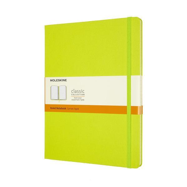 CLASSIC NOTEBOOK XL RULED LEMON GREEN HARD COVER