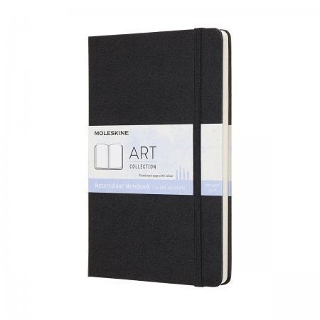 ART WATERCOLOR BOOK LARGE BLACK ARTQP084