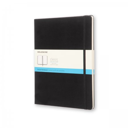 MOLESKINE NOTEBOOK XL DOT HARD COVER BLACK QP093VF