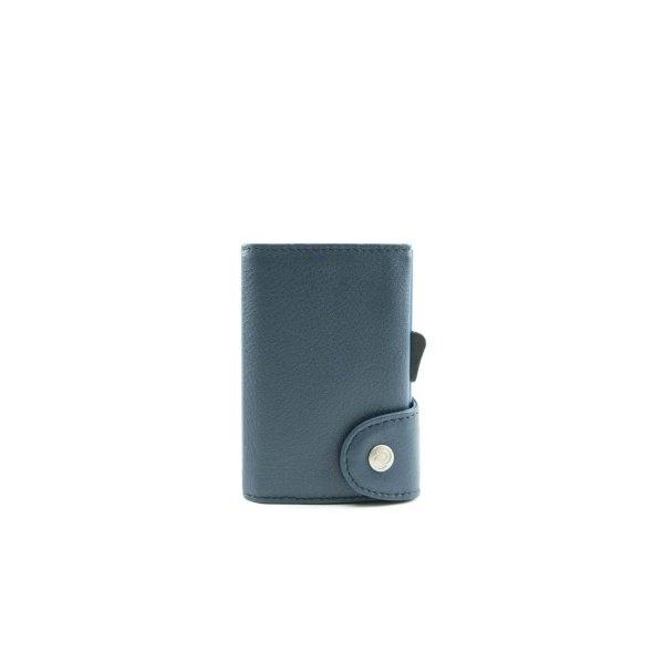 C-SECURE RFID Classic Leather Wallet Blue Marino/ Navy Card holder