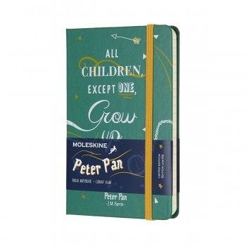 MOLESKINE LIMITED EDITION NOTEBOOK PETER PAN POCKET RULED INDIANS MALACHITE GREEN